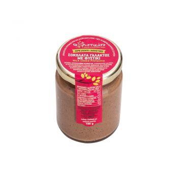 Σοκολάτα Γαλακτος με Φυστίκι 100gr